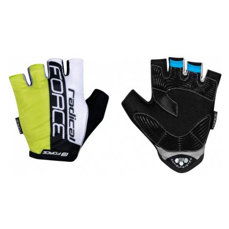 Cyklistické rukavice FORCE RADICAL fluo-bílo-černé