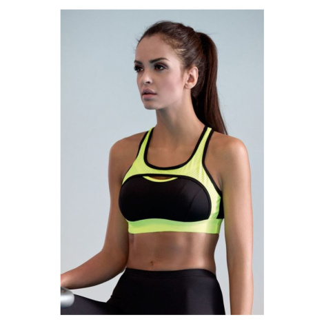 Fitness podprsenka Nela neonově žlutá Lorin