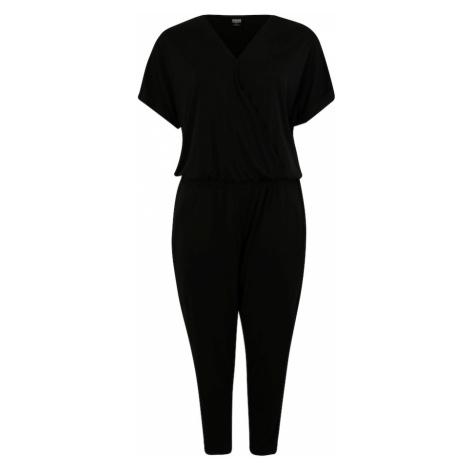 Urban Classics Curvy Overal 'Ladies Modal Jumpsuit' černá