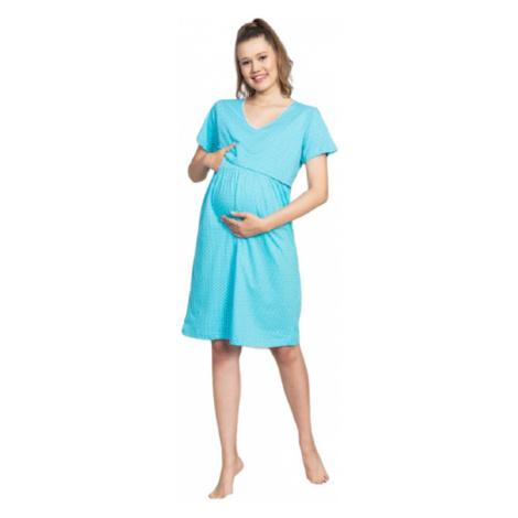 Dámská noční košile mateřská Vienetta Secret Leona   tyrkysová
