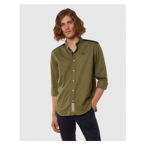 Košile La Martina Man Light Twill L/S Shirt Ligh - Zelená