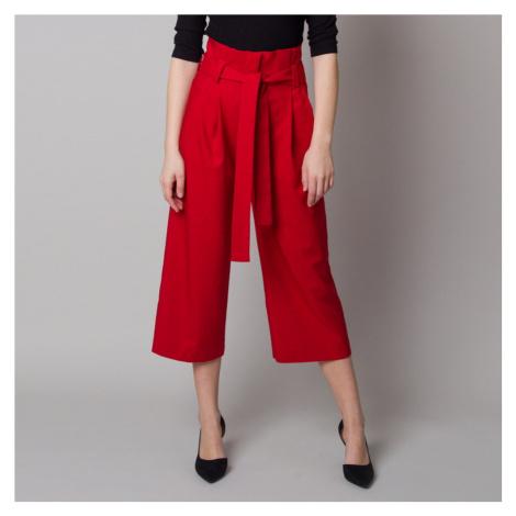 Dámské látkové kalhoty culottes červené 12621 Willsoor