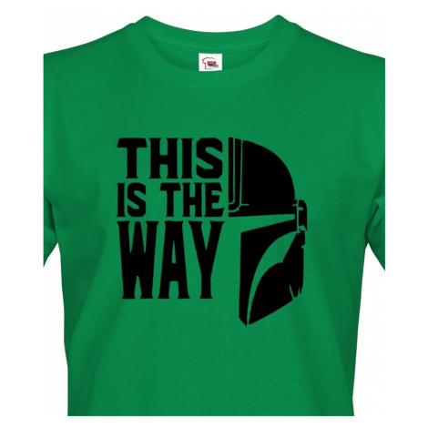 Pánské tričko ze seriálu Mandalorian - This is The Way BezvaTriko
