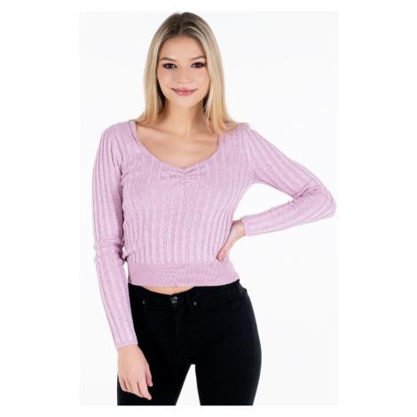Pepe Jeans Pepe Jeans dámský růžový svetr AMANDA