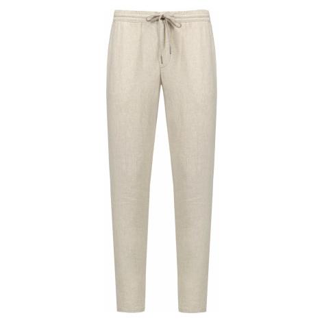 Lněné kalhoty Alberto HOUSE béžová