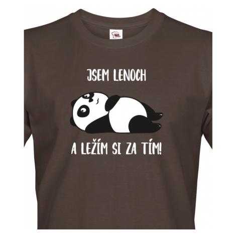 Pánské tričko Jsem lenoch a ležím si za tím! - ideální dárek pro muže BezvaTriko