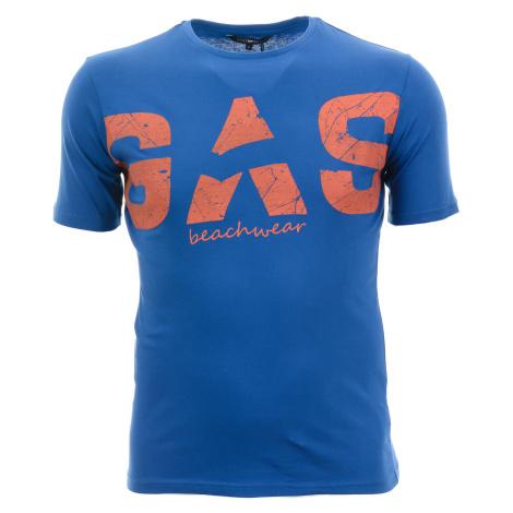 Pánské modré tričko s potiskem Gas