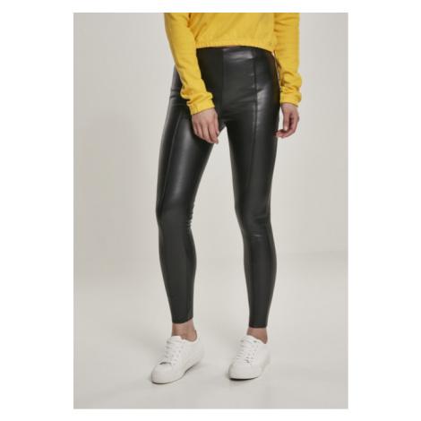 Urban Classics Ladies Faux Leather Skinny Pants black