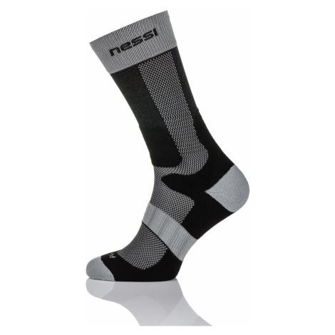 Nessi Termoaktivní ponožky s ionty stříbra T1 - Černo-Šedá