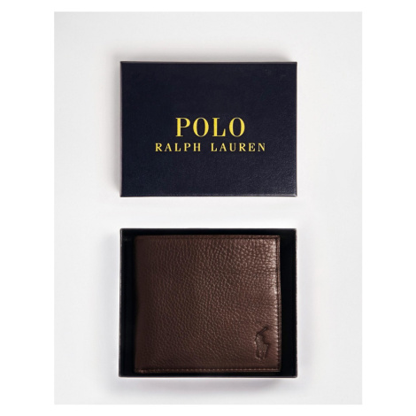 Polo Ralph Lauren Leather Billfold Wallet - Brown