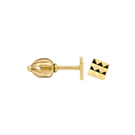 Brilio Zlaté náušnice Ozdobné pecičky 231 001 00289