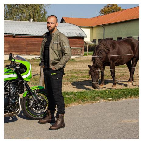 Pánská Moto Bunda W-Tec Rotenhan Deep Forest Green