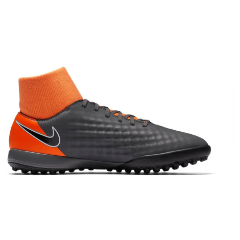 Dětské kopačky Nike MagistaX Obra II Academy DF TF Šedá / Oranžová