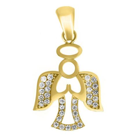 Brilio Úchvatný přívěsek ze žlutého zlata Andělíček PENT109_AU_Y