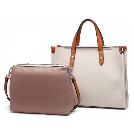 Světle béžová dámská elegantní kabelka 2v1 Afea Lulu Bags