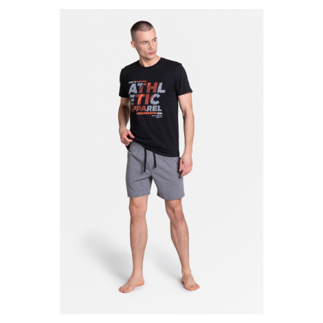 Pánské pyžamo LANG 38865 černá Henderson