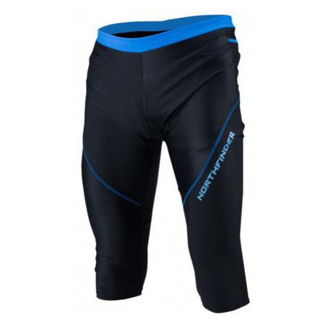 NORTHFINDER NIKKLAS Pánské běžecké 3/4 kalhoty BE-3164SII271 černo-modrá