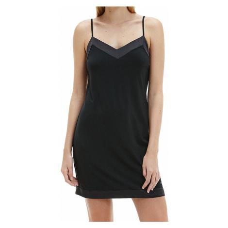 Calvin Klein noční košilka černá - Černá