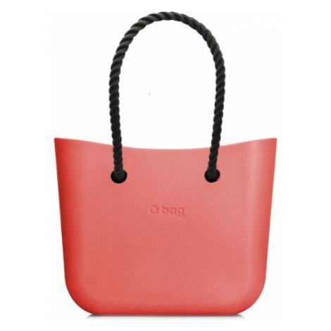 O bag kabelka MINI Coral s černými dlouhými provazy