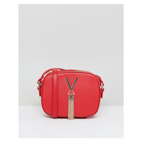 Valentino by Mario Valentino Divina tassel detail camera cross body bag in red
