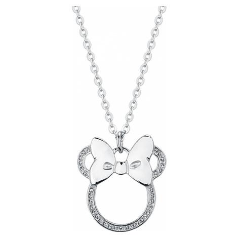 Mickey & Minnie Mouse Disney by Couture Kingdom - Minnie Outline Bow Náhrdelník - řetízek stríbr