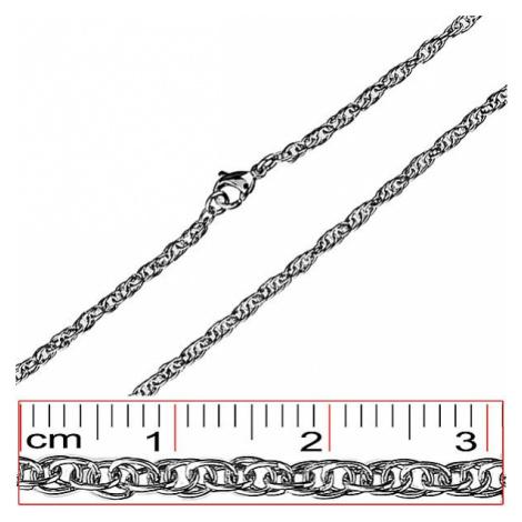 Oceľová retiazka - husto prepletené oválne očká Šperky eshop