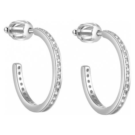 Beneto Stříbrné náušnice kruhy AGUP1454S