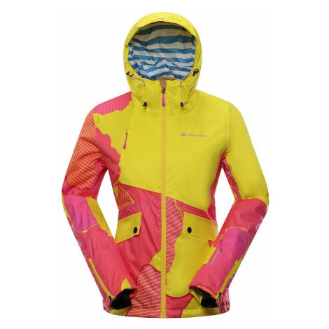 Dámská lyžařská bunda Alpine Pro MAKERA - žluto-červená