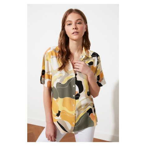 Trendyol Yellow Printed Shirt