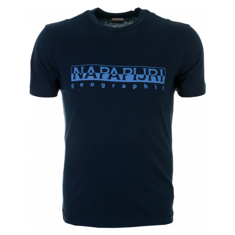 Pánské tmavě modré tričko Napapijri s velkým logem