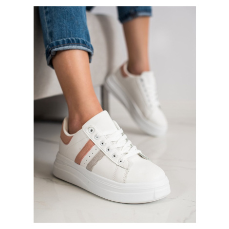 SHELOVET SNEAKERS WITH SUEDE INSERTS