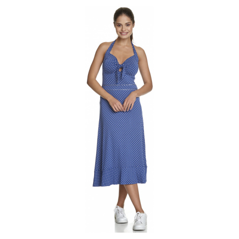 Letní šaty bez rukávů modré s puntíky Vive Maria My Nice