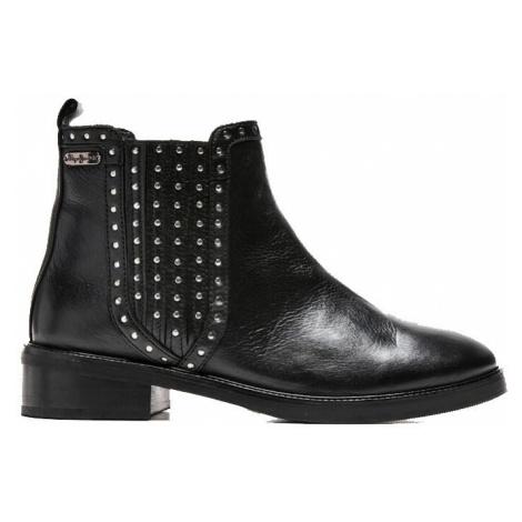 Pepe Jeans Pepe Jeans dámské černé kožené boty MALDON ESSE