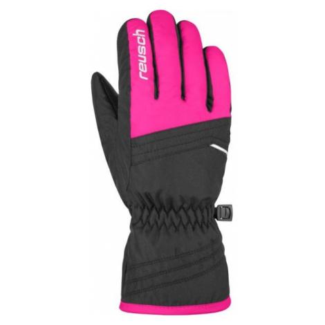 Reusch ALAN JR růžová - Dětské lyžařské rukavice