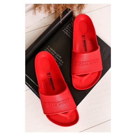 Červené gumové pantofle Barbados Eva Birkenstock