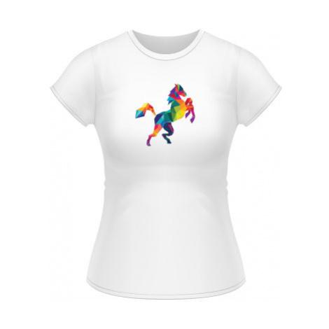 Dámské tričko Classic Kůň z polygonů