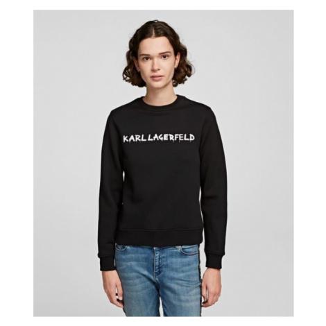Mikina Karl Lagerfeld Graffiti Logo Sweatshirt - Černá