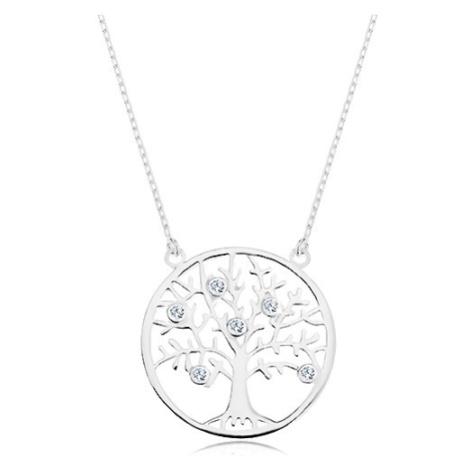 Náhrdelník ze stříbra 925, řetízek a přívěsek - strom života zdobený zirkony Šperky eshop