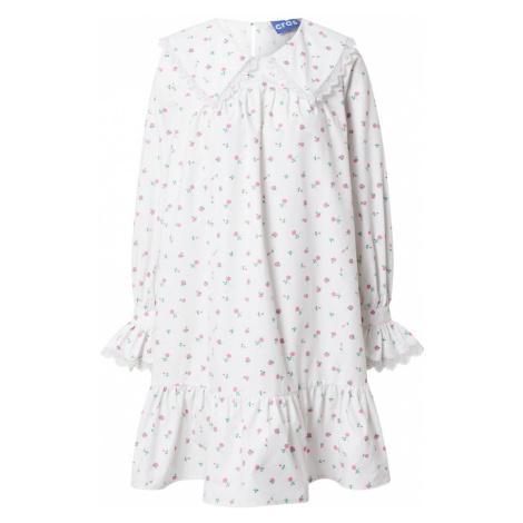 Crās Košilové šaty 'Alexiscras' bílá / růžová / světle zelená