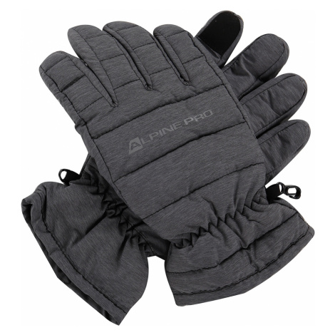 ALPINE PRO LEZET Unisex lyžařské rukavice UGLP007779 tmavě šedá