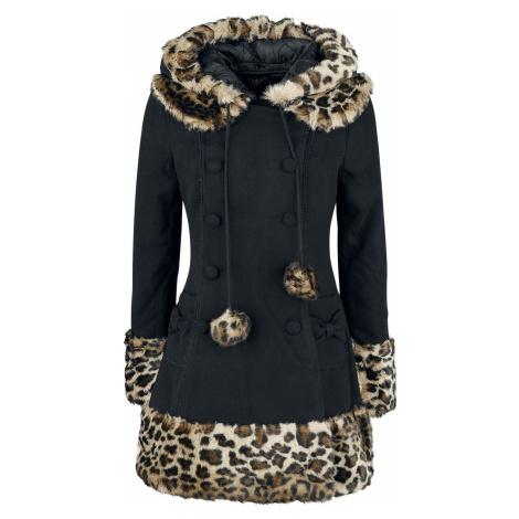 Hell Bunny Kabát Leah Jane Dámský kabát černý leopard