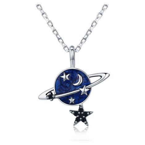 Linda's Jewelry Stříbrný náhrdelník Měsíc a Hvězdy Ag 925/1000 INH078
