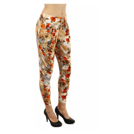 Volné dámské vzorované kalhoty