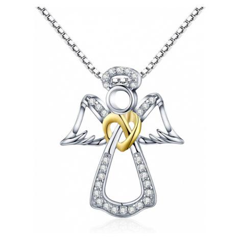 Linda's Jewelry Stříbrný náhrdelník Anděl Páně Ag 925/1000 INH092