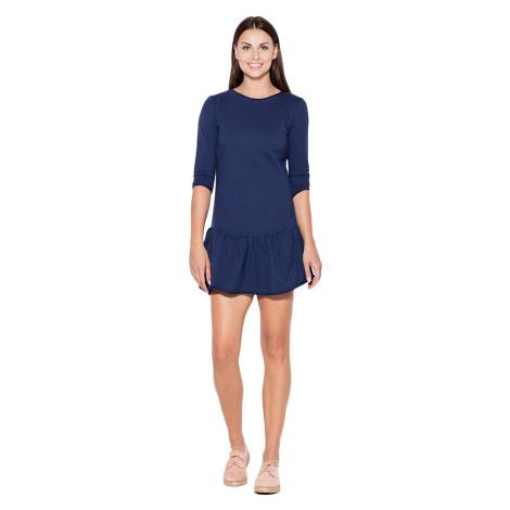 Katrus Woman's Dress K222 Navy Blue