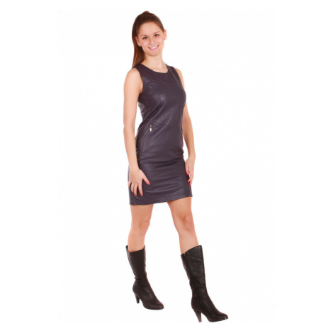 Dámské koženkové sexy šaty