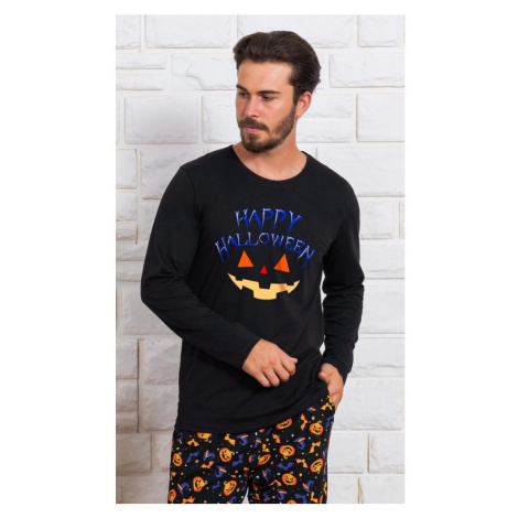 Pánské pyžamo dlouhé Halloween, XL, černá