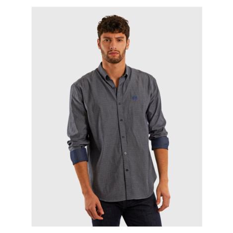 Košile La Martina Man L/S Shirt Poplin Indigo - Modrá