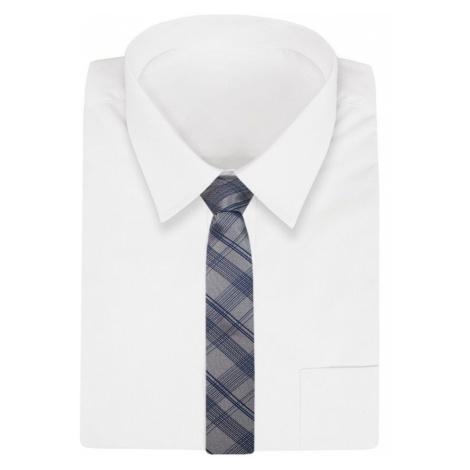 Károvaná kravata Dark Silver