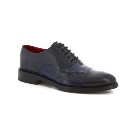 Leonardo Shoes 9127/19 TOM VITELLO DELAVE BLU Modrá